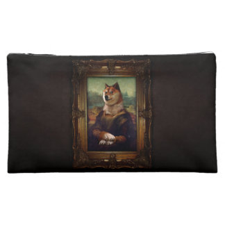 Doge Mona Lisa Fine Art Shibe Meme Painting Makeup Bag