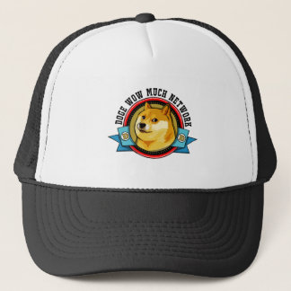 Doge Shibe Wow Much Network Emblem Trucker Hat