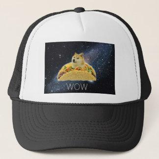 doge space taco meme trucker hat