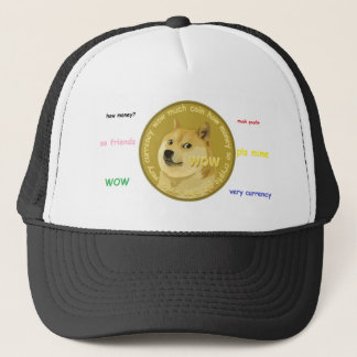 Dogecoin accessories- The Chatty Shiba Inu Trucker Hat