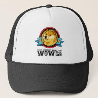 Dogecoin Doge Shibe Wow Much Network Emblem Trucker Hat