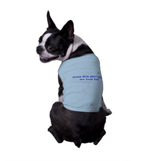 Doggie Ribbed tank top with Saying Sleeveless Dog Shirt
