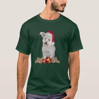 Doggie Santa With Daylilies T-Shirt