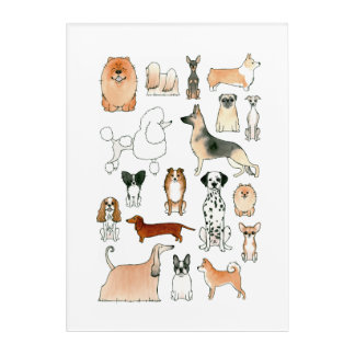 Dogs Acrylic Wall Art