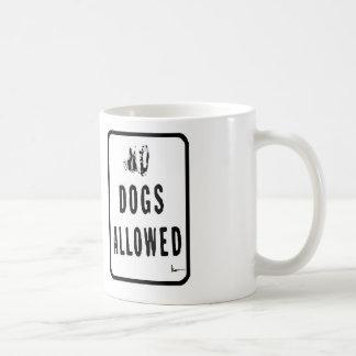 """Dogs Allowed"" Basic White Mug"