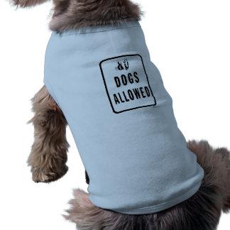 """DOGS ALLOWED"" SLEEVELESS DOG SHIRT"