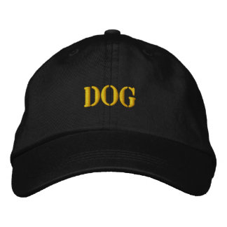 DOGS EMBROIDERED BASEBALL CAP