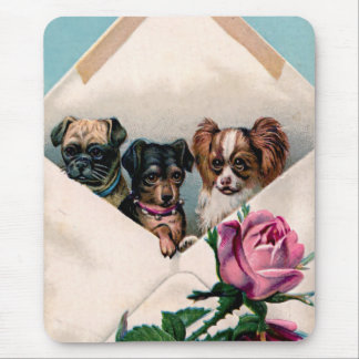 Dogs in an Envelope Mouse Pad
