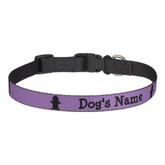 Dog's Name Hydrant Black Personalize Pet Collar