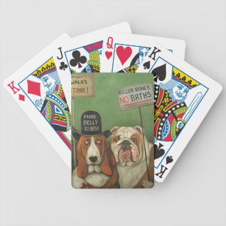 Dogs On Strike Bicycle Playing Cards