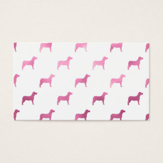 Dogs Pink Faux Foil Metallic Background Dog Design Business Card