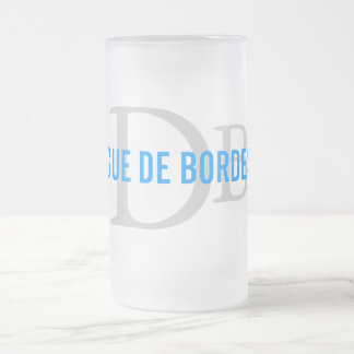 Dogue de Bordeaux Breed Monogram Frosted Glass Beer Mug