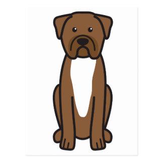 Dogue de Bordeaux Dog Cartoon Postcard