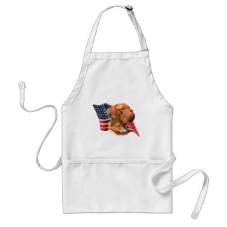 Dogue de Bordeaux Flag Standard Apron