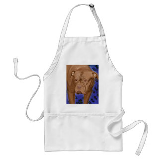 Dogue de Bordeaux on Blue Urban Background Standard Apron