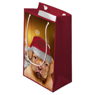 Dogue de Bordeaux puppy Christmas Gift Bag