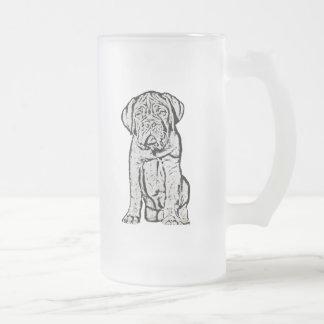 Dogue de Bordeaux puppy frosted mug