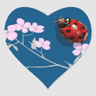 dogwood blossom heart spot ladybugs stickers