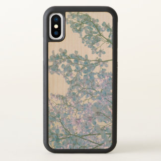 Dogwood Flowers Purple Lavender Tinted Nature Art iPhone X Case