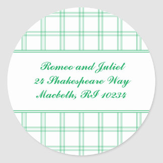 Dogwood Plaid Address Label