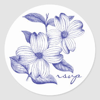 Dogwood RSVP Sticker