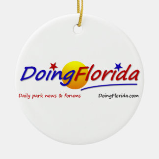 DoingFlorida Products Round Ceramic Decoration