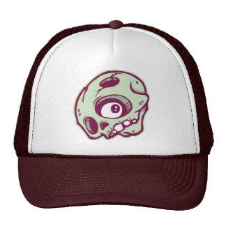 DOLLA maroon skully lid Trucker Hat