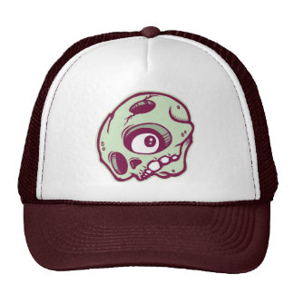DOLLA maroon skully lid Cap