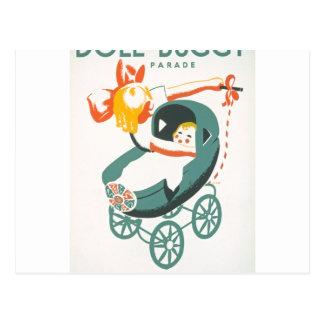 Dolly & Buggy Parade WPA Poster Postcard