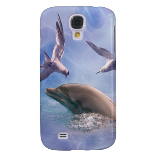 Dolphin and diving birds galaxy s4 case