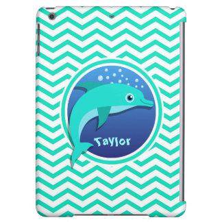 Dolphin; Aqua Green Chevron