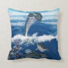 "Dolphin Art Polyester Throw Pillow 16"" x 16"""