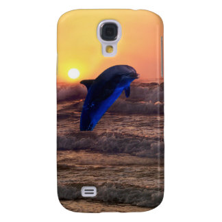 Dolphin at sunset galaxy s4 case