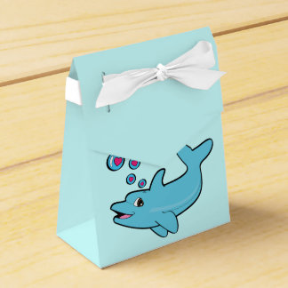 Dolphin Blowing Heart-Filled Bubbles Favour Box