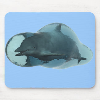 Dolphin bubble mouse pad