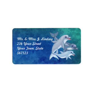 Dolphin Family Address Labels