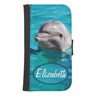 Dolphin in Blue Water Photo Samsung S4 Wallet Case