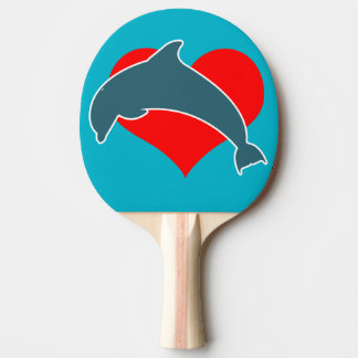 Dolphin Luv Ping Pong Paddle