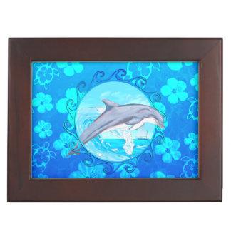 Dolphin Maori Sun Keepsake Box