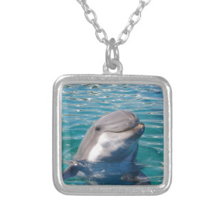 Dolphin Smile Silver Plated Necklace
