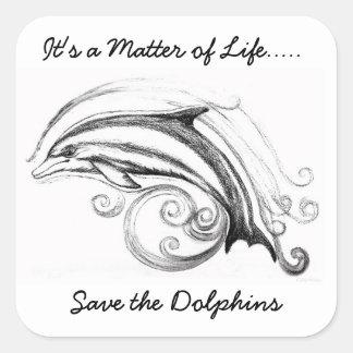 Dolphin Square Stickers