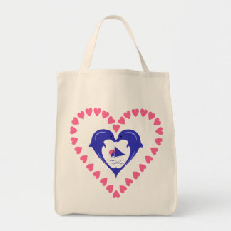 Dolphins Heart Bag