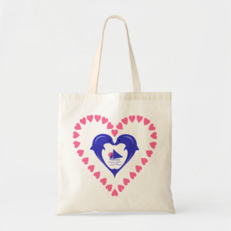 Dolphins Heart Bag