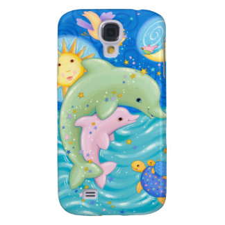 Dolphins Play Galaxy S4 Case