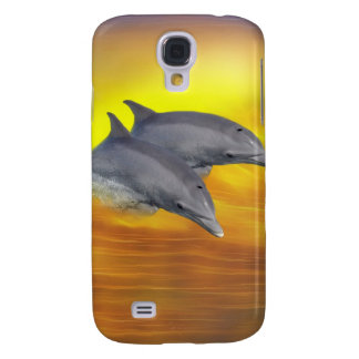Dolphins surfing the waves galaxy s4 case