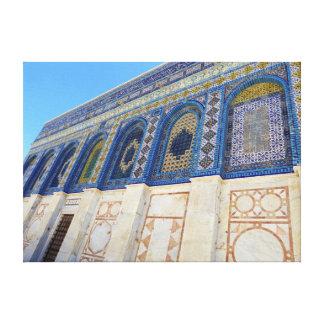 Dome Of The Rock: Jerusalem, Palestine Stretched Canvas Print