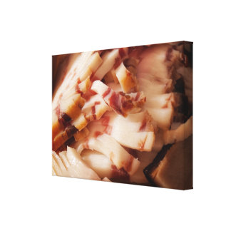 Domestic bacon canvas print