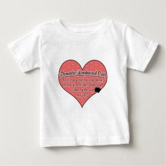 Domestic Longhair Paw Prints Cat Humor Baby T-Shirt