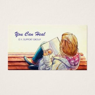 Domestic Violence Support Group Counsellor Business Card