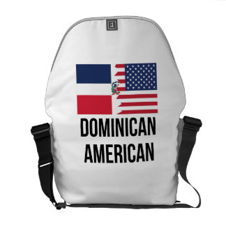 Dominican American Flag Courier Bag